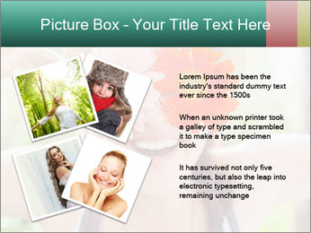 Colorful flowers PowerPoint Template - Slide 23