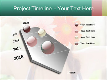 Colorful flowers PowerPoint Template - Slide 26