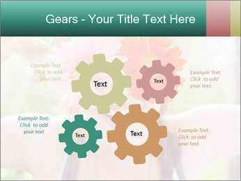 Colorful flowers PowerPoint Template - Slide 47