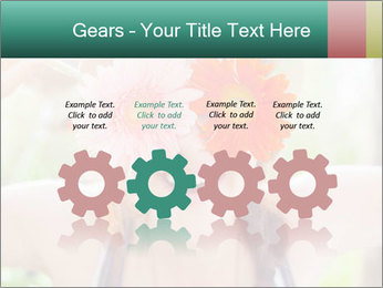 Colorful flowers PowerPoint Template - Slide 48