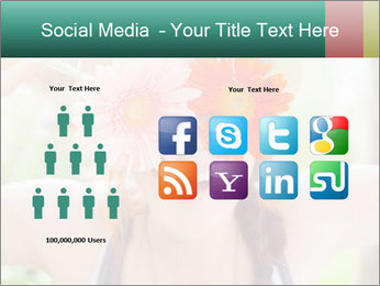 Colorful flowers PowerPoint Template - Slide 5