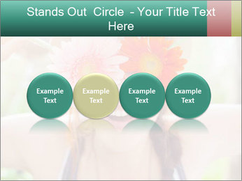 Colorful flowers PowerPoint Template - Slide 76
