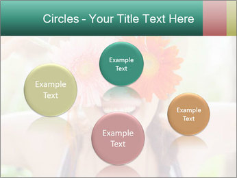 Colorful flowers PowerPoint Template - Slide 77
