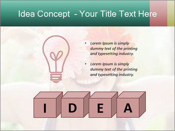 Colorful flowers PowerPoint Template - Slide 80