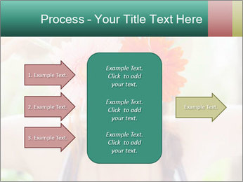 Colorful flowers PowerPoint Template - Slide 85