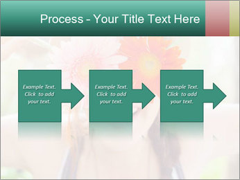 Colorful flowers PowerPoint Template - Slide 88