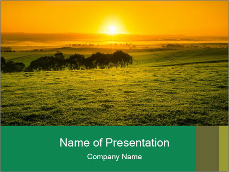 Beautiful Orange Sunrise PowerPoint Template