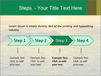 Beautiful Orange Sunrise PowerPoint Template - Slide 4