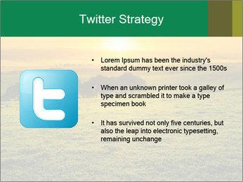 Beautiful Orange Sunrise PowerPoint Template - Slide 9