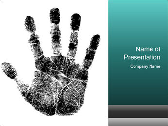 Hand PowerPoint Template - Slide 1