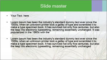 Marram Grass growing PowerPoint Template - Slide 2