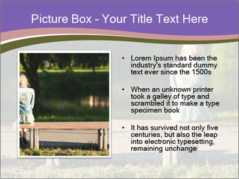 Girl sitting alone PowerPoint Templates - Slide 13