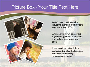 Girl sitting alone PowerPoint Templates - Slide 23