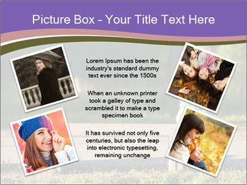 Girl sitting alone PowerPoint Templates - Slide 24