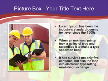 Two harbor workers PowerPoint Template - Slide 13