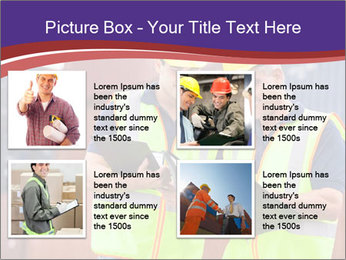 Two harbor workers PowerPoint Template - Slide 14