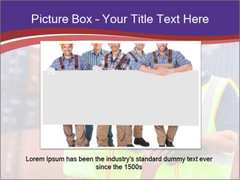 Two harbor workers PowerPoint Template - Slide 16