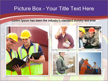 Two harbor workers PowerPoint Template - Slide 19