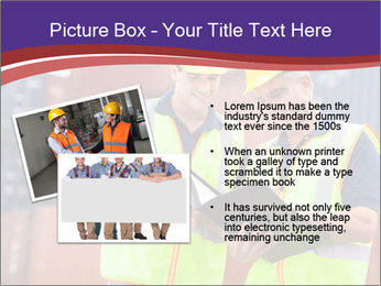 Two harbor workers PowerPoint Template - Slide 20