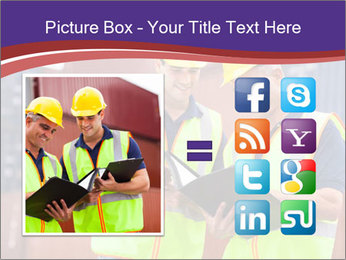 Two harbor workers PowerPoint Template - Slide 21