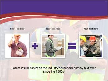 Two harbor workers PowerPoint Template - Slide 22