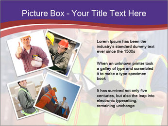 Two harbor workers PowerPoint Template - Slide 23