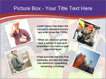 Two harbor workers PowerPoint Templates - Slide 24