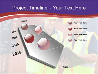 Two harbor workers PowerPoint Template - Slide 26