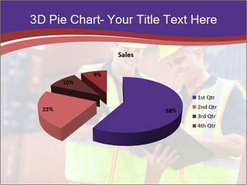 Two harbor workers PowerPoint Template - Slide 35