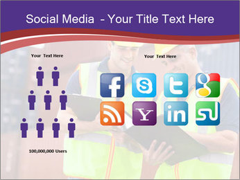 Two harbor workers PowerPoint Template - Slide 5