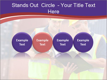 Two harbor workers PowerPoint Templates - Slide 76