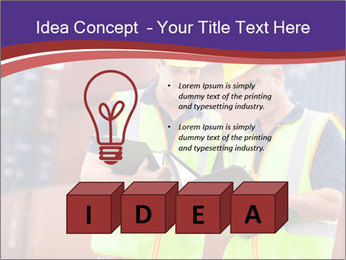 Two harbor workers PowerPoint Template - Slide 80