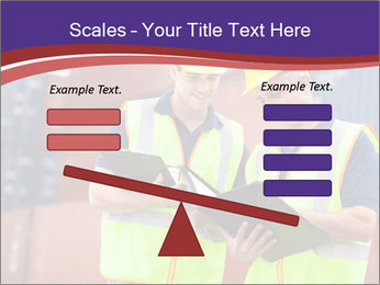 Two harbor workers PowerPoint Template - Slide 89