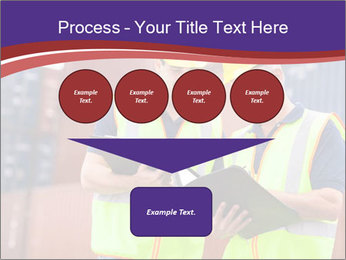 Two harbor workers PowerPoint Templates - Slide 93