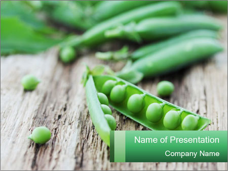 Young fresh juicy pods PowerPoint Templates