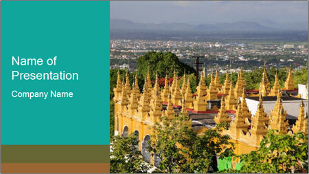 Mandalay hill PowerPoint Template