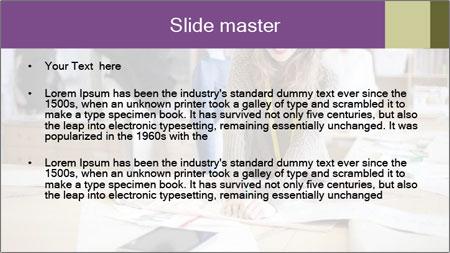 Fashion designer working PowerPoint Template - Slide 2