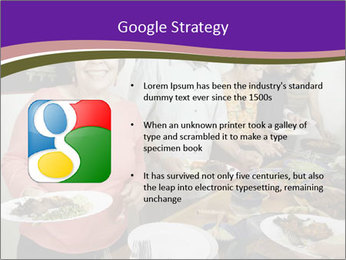 Wman holding a plate of food PowerPoint Template - Slide 10