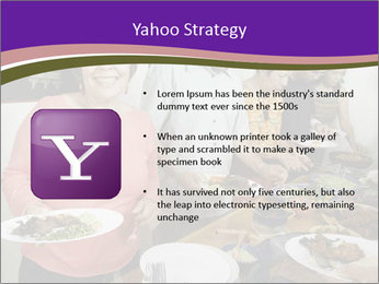 Wman holding a plate of food PowerPoint Template - Slide 11