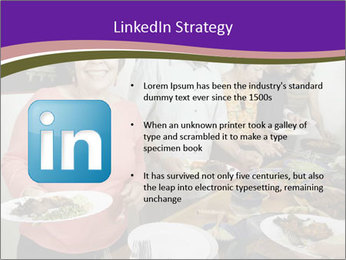 Wman holding a plate of food PowerPoint Template - Slide 12