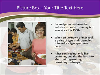 Wman holding a plate of food PowerPoint Template - Slide 13
