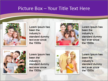 Wman holding a plate of food PowerPoint Template - Slide 14