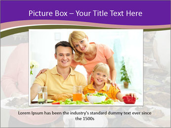 Wman holding a plate of food PowerPoint Template - Slide 16