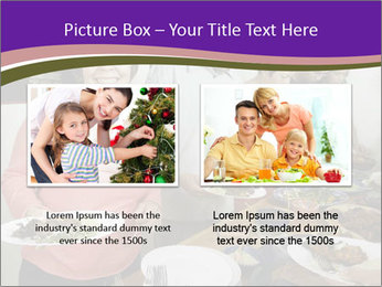 Wman holding a plate of food PowerPoint Template - Slide 18