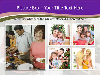 Wman holding a plate of food PowerPoint Template - Slide 19
