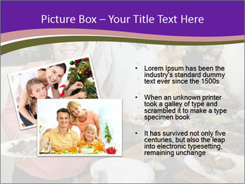 Wman holding a plate of food PowerPoint Template - Slide 20