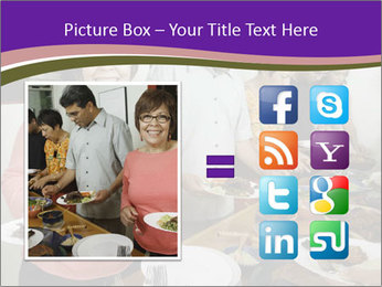 Wman holding a plate of food PowerPoint Template - Slide 21