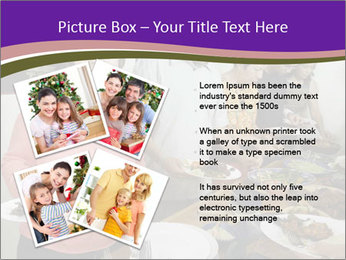 Wman holding a plate of food PowerPoint Template - Slide 23