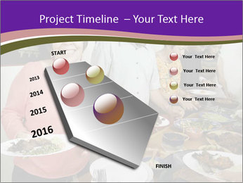 Wman holding a plate of food PowerPoint Template - Slide 26