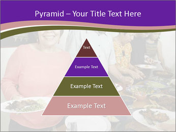 Wman holding a plate of food PowerPoint Template - Slide 30